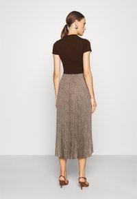 Polo Ralph Lauren - PAPA SHORT SLEEEVE DAY DRESS - Jumper dress - brown - 2