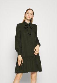 Bruuns Bazaar - PRALENZA ALLEA SHIRT DRESS - Day dress - green night - 0
