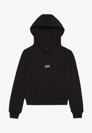 KIDS OFF CROPPED HOODY - Sweat à capuche - schwarz