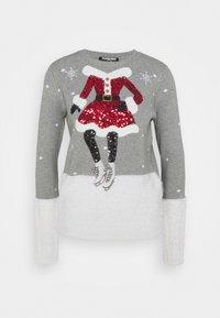 Fashion Union - CHRISTMAS MRS CLAUS ICE SKATING - Jumper - grey - 0