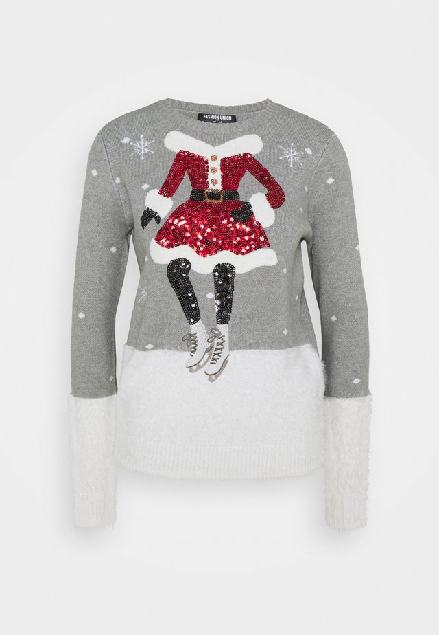 CHRISTMAS MRS CLAUS ICE SKATING - Sweter - grey