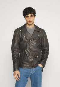 Freaky Nation - CHACCO - Leather jacket - dark anthra - 0