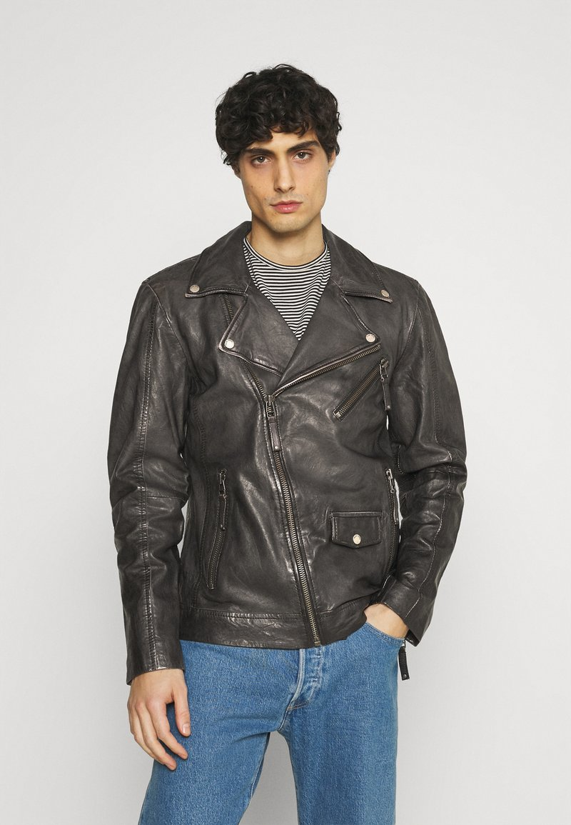 Freaky Nation - CHACCO - Leather jacket - dark anthra