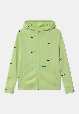 Zip-up hoodie - light liquid lime/aquamarine