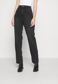 NU-IN - HIGH RISE STRAIGHT  - Straight leg jeans - black - 0