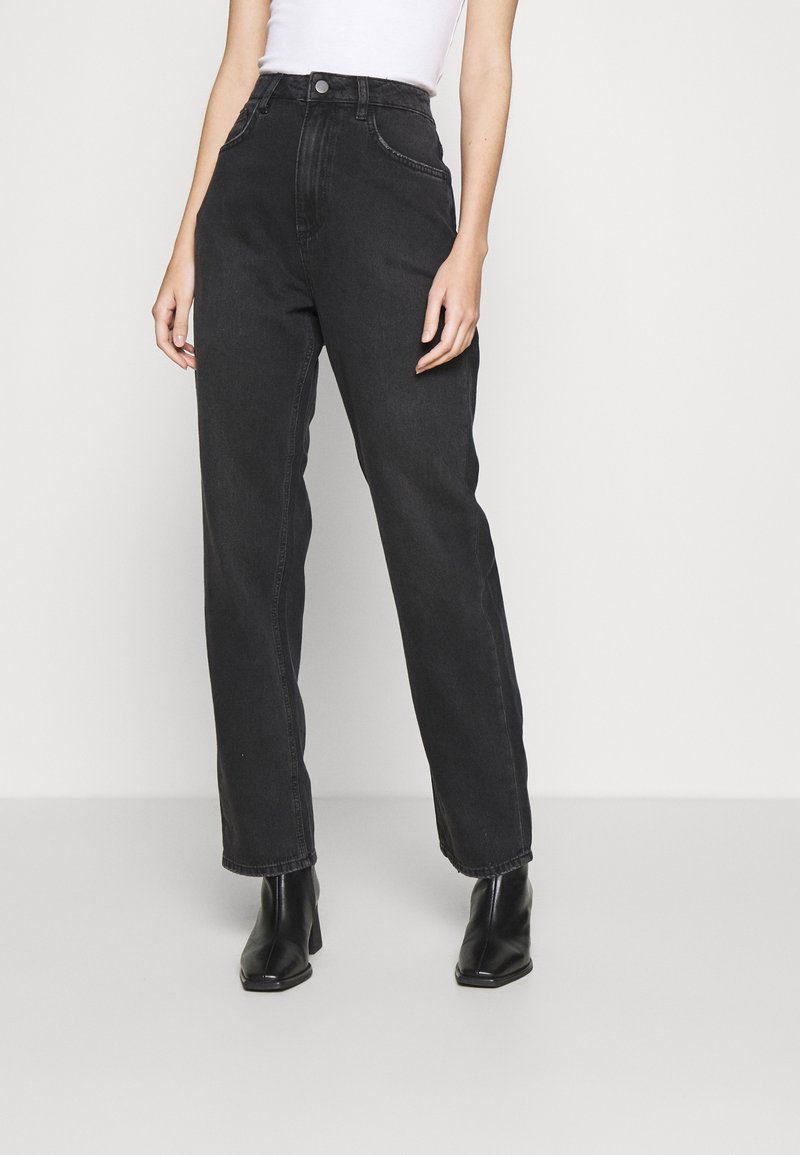 NU-IN - HIGH RISE STRAIGHT  - Straight leg jeans - black