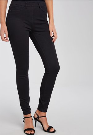 JERSEY DENIM LEGGINGS - Jeggings - blue-black denim
