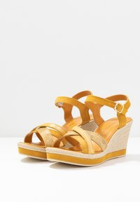 Marco Tozzi - Platform sandals - yellow - 4