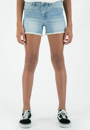 RIANNA - Denim shorts - stoned blue