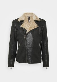 Freaky Nation - BJÖRN - Leather jacket - black/beige - 0