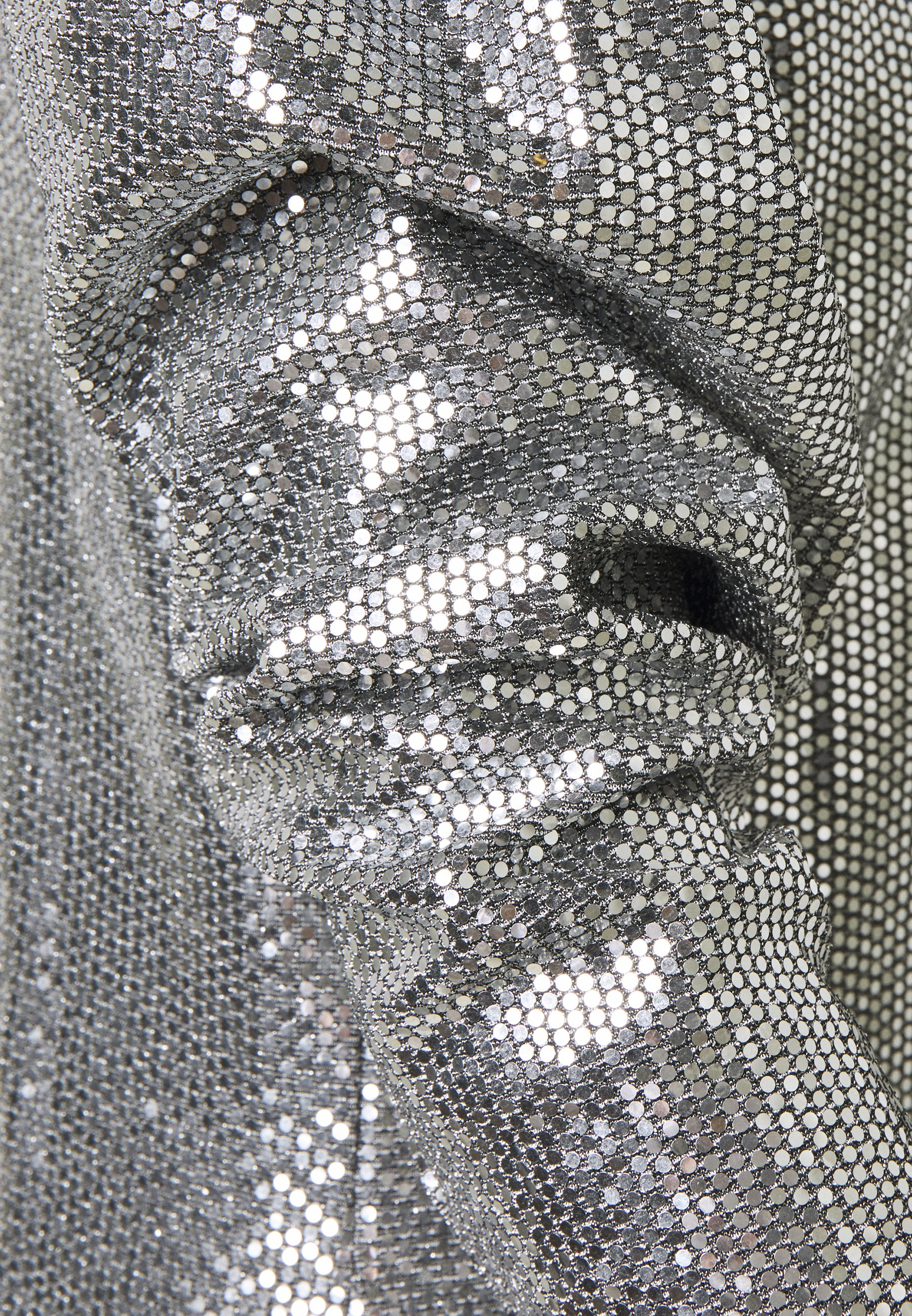 Gina Tricot AUGUSTA SEQUINS DRESS EXCLUSIVE Cocktailkleid/festliches Kleid silver/silber