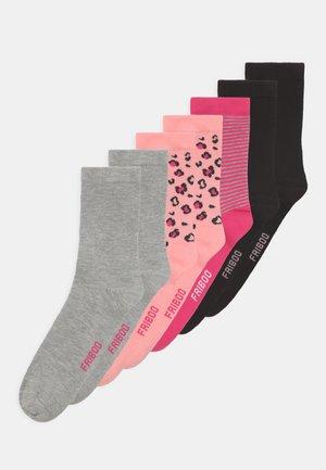 7 PACK - Socks - black/grey/pink