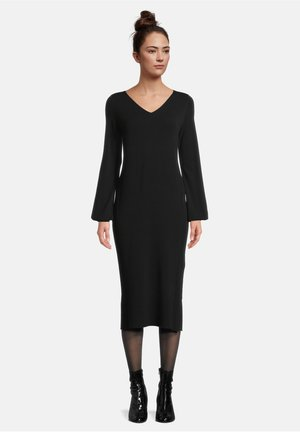 MIT STRUKTUR - Etui-jurk - schwarz