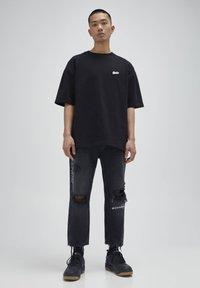 PULL&BEAR - Jeans baggy - black - 1