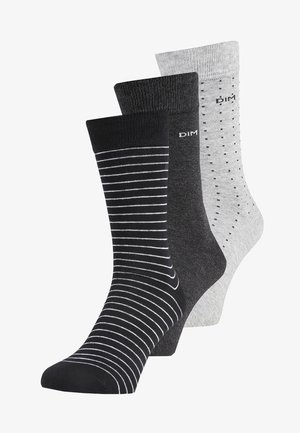 CREW SOCKS 3 PACK - Socks - lot noir/anthracite/gris clair