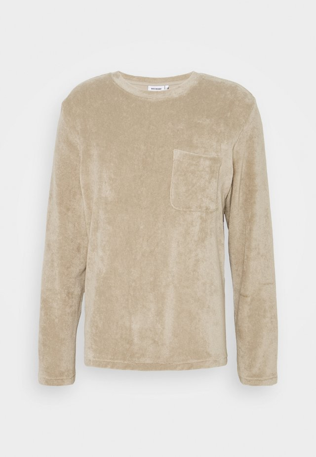 TOWEL POCKET LONGSLEEVE UNISEX - T-shirt à manches longues - beige