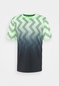 K-SWISS - HYPERCOURT CREW - Triko spotiskem - soft neon green/blue graphite - 0