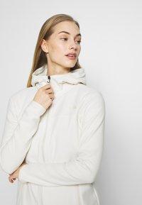 The North Face - WOMENS GLACIER FULL ZIP HOODIE - Fleece jacket - vintage white - 3