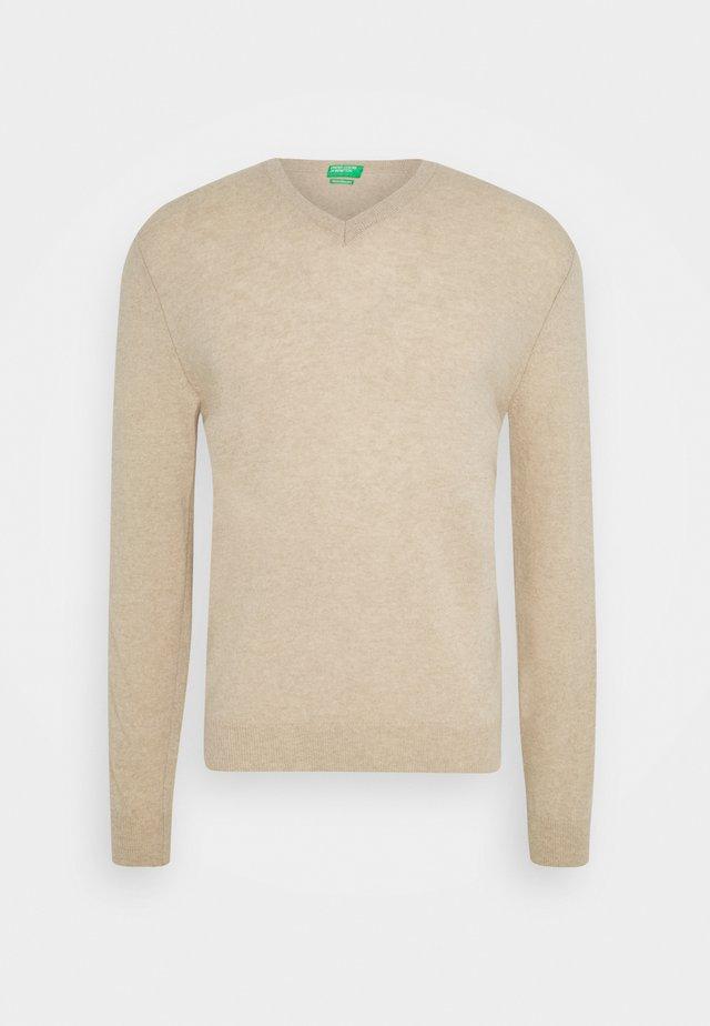 BASIC V NECK - Pullover - light beige
