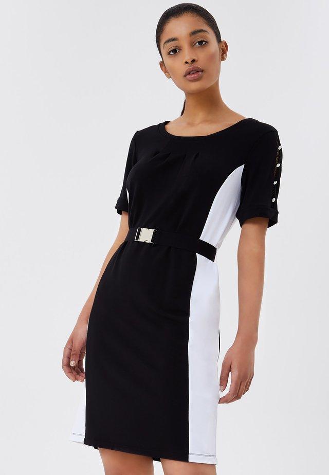 Korte jurk - black/white