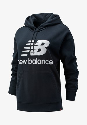 NB ESSENTIALS STACKED LOGO - Jersey con capucha - black