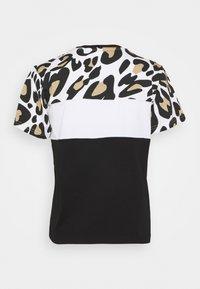 Fila - ANOKIA BLOCKED TEE - Print T-shirt - bold/black/bright white - 6