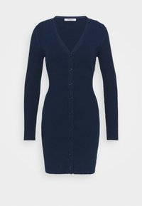 Glamorous - LOW FRONT MINI DRESS WITH LONG SLEEVES - Jumper dress - navy - 0