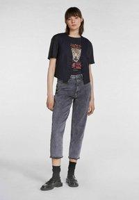 SET - Print T-shirt - black - 1