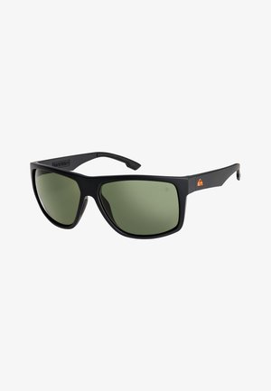 TRANSMISSION POLAR FLOATABLE - Sunglasses - matte black/green polarized