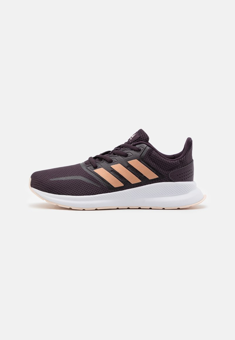 adidas Performance - RUNFALCON UNISEX - Neutral running shoes - noble purple/copper metallic/pink tint