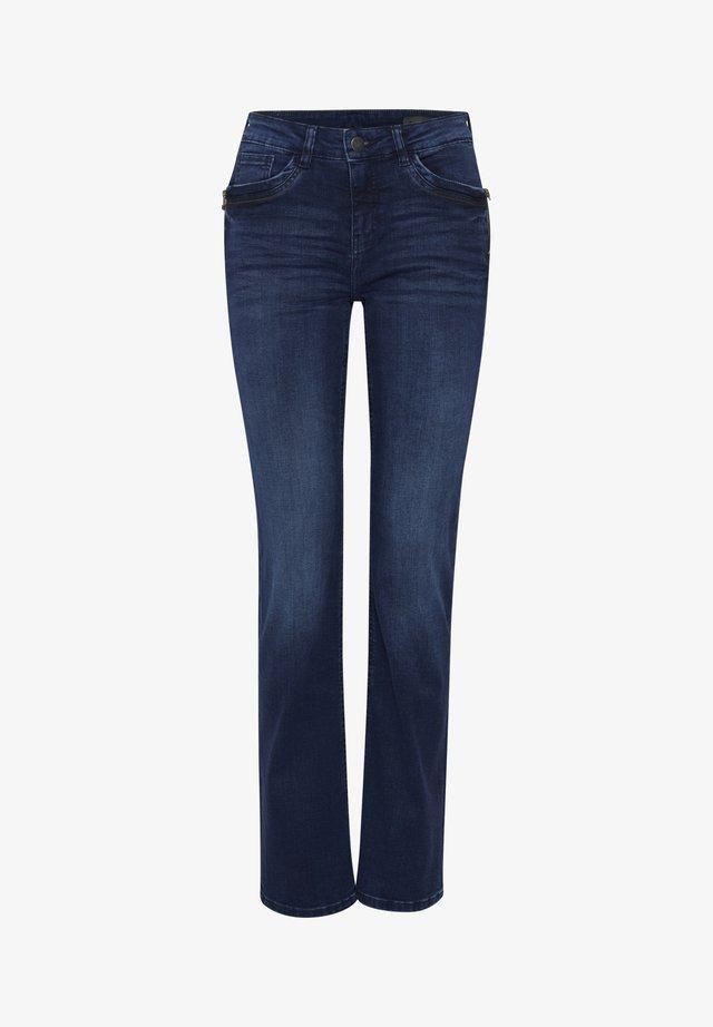 FRPOVER  - Jeans Straight Leg - simple blue denim