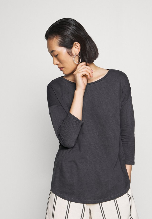 Long sleeved top - asphalt