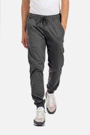 REFLEX RIB - Trousers - dark grey