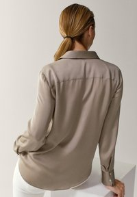 Massimo Dutti - Button-down blouse - beige - 1