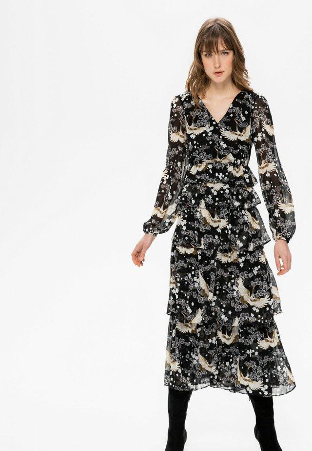 Robe d'été - imprimé noir