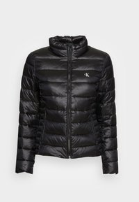Calvin Klein Jeans - BACK LOGO ELASTIC MOTO JACKET - Winter jacket - black - 3