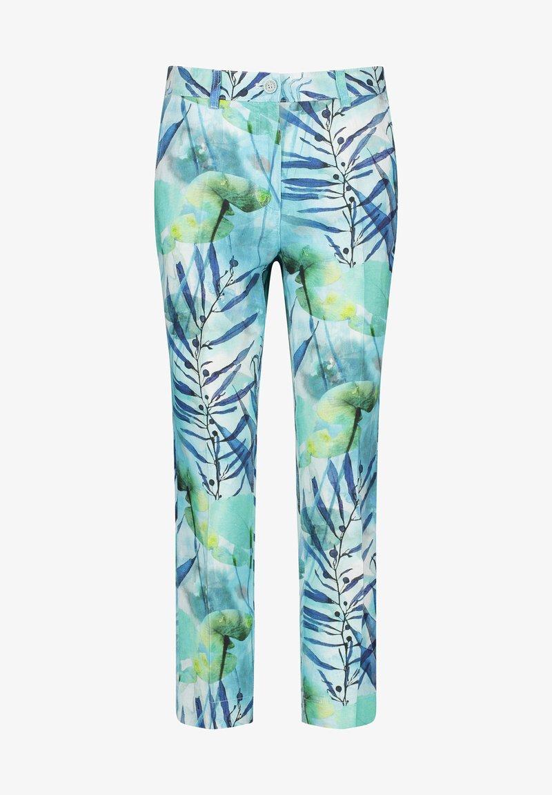 Gerry Weber - Trousers - grün/blau druck