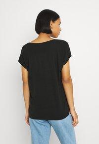 Vero Moda - VMAVA VNECK TEE  - Basic T-shirt - black - 2