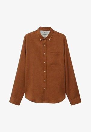 SLIM FIT - Shirt - bräunliches orange