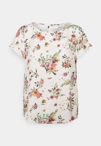 Vila - VIBILLY FLOWER - T-shirts print - cloud dancer/red - 4