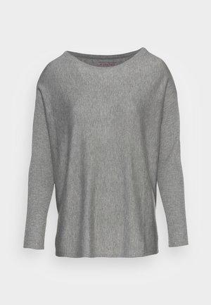 BATWING JUMPER BOATNECK - Pullover - mottled grey
