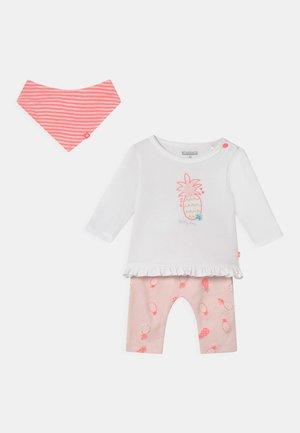 SET - Leggings - Trousers - light pink/off-white