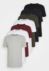 Pier One - 7 PACK - T-shirt - bas - dark blue/black/white - 4