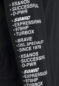 Diesel - JUST HOOD SLITS UNISEX - Long sleeved top - black - 2