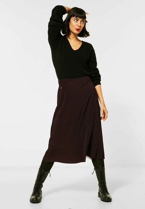 ROCK MIT MUSTER - A-line skirt - rot