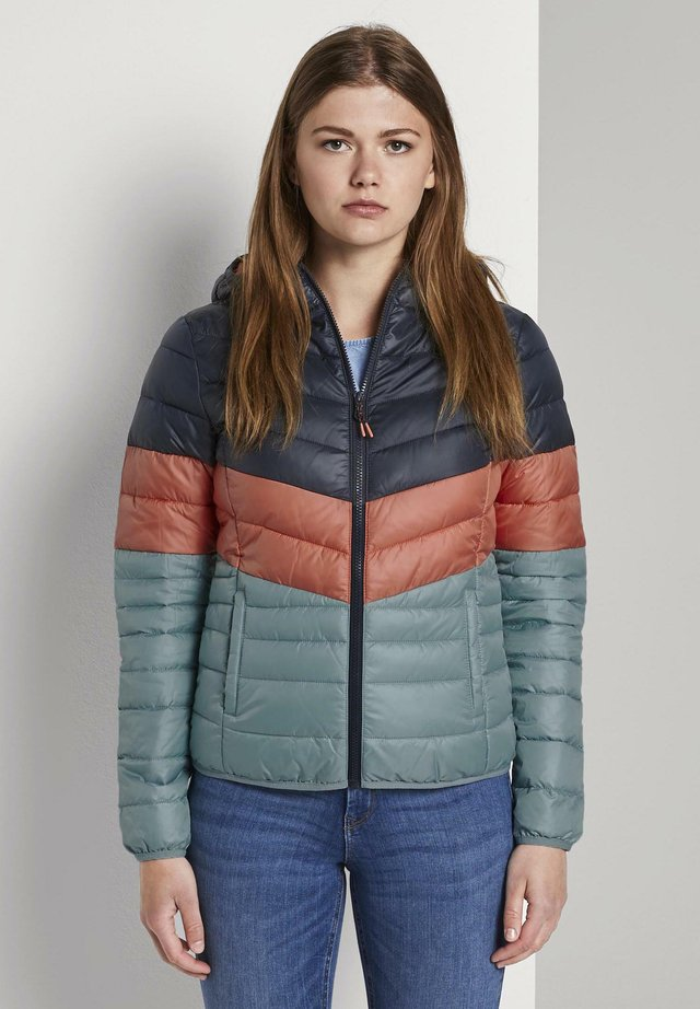 LIGHT PADDED JACKET - Veste mi-saison - blue coral colorblock