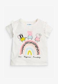 Next - PEPPA PIG RAINBOW  - Print T-shirt - grey - 0