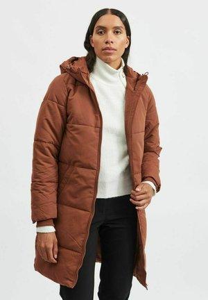 Winter coat - mottled brown