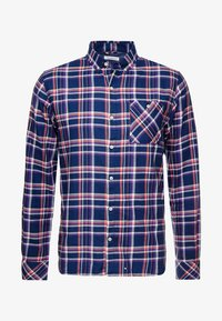 Knowledge Cotton Apparel - CHECKED BUTTON DOWN - Shirt - dark denim - 4