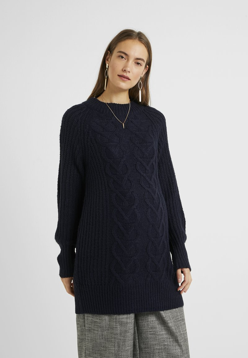 Dorothy Perkins Maternity - CABLE - Sweter - navy